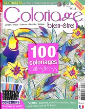 Coloriage serenity N° 18 Septembre 2018