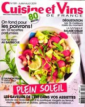 Cuisine et Vins de France N° 189 Juillet 2019