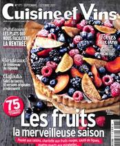 Cuisine et Vins de France N° 177 Août 2017
