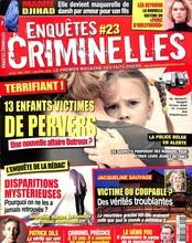 Enquêtes criminelles N° 23 Novembre 2017