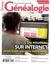 La Revue Française de Généalogie N° 229 Mars 2017
