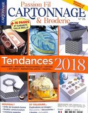 Passion fil cartonnage broderie N° 26 January 2018
