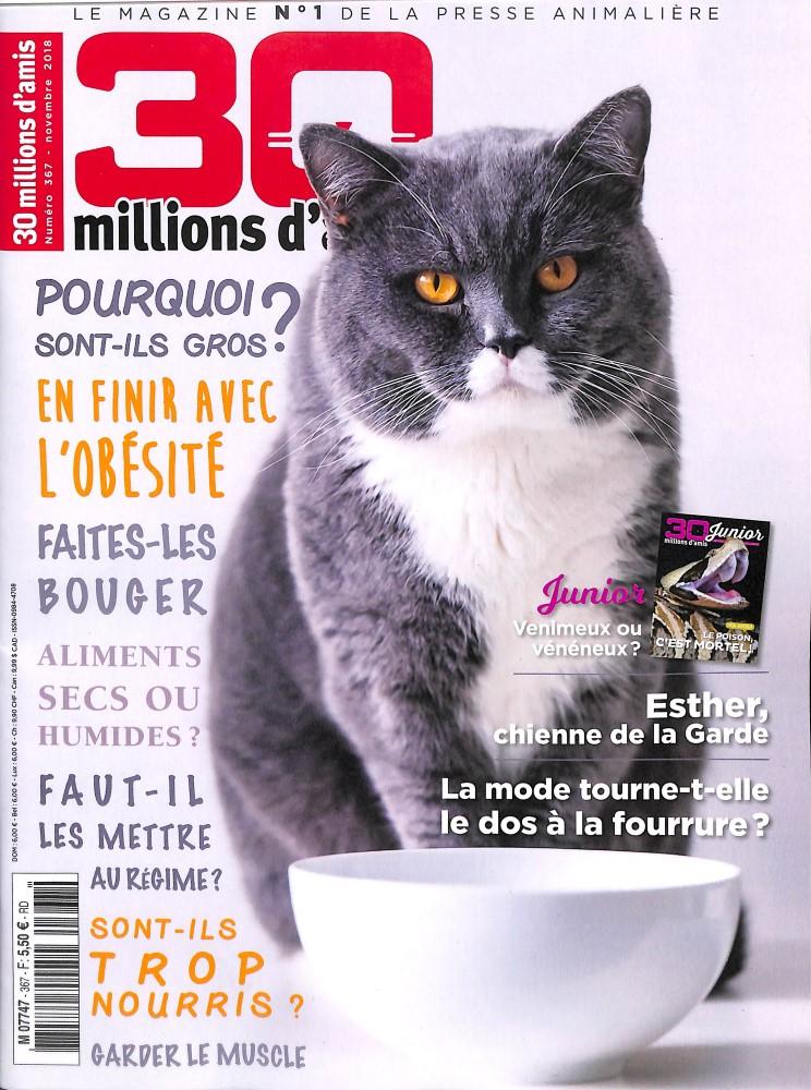 30 Millions d'Amis N° 367 October 2018