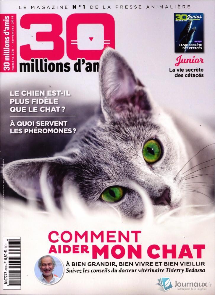 30 Millions d'Amis N° 378 Octobre 2019