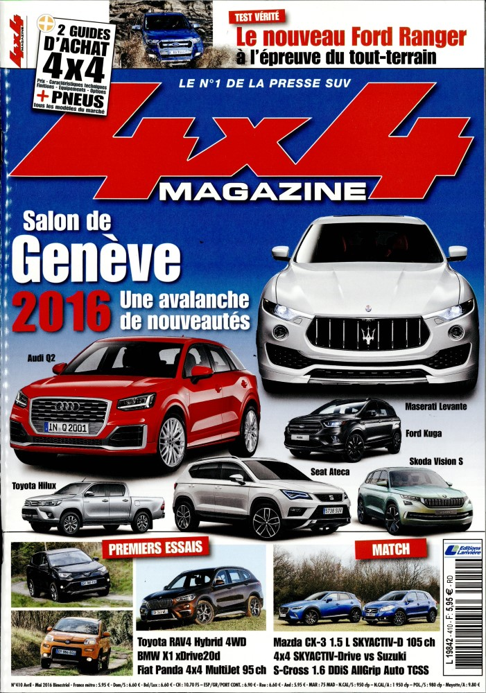 4x4 magazine N° 430 Juillet 2019