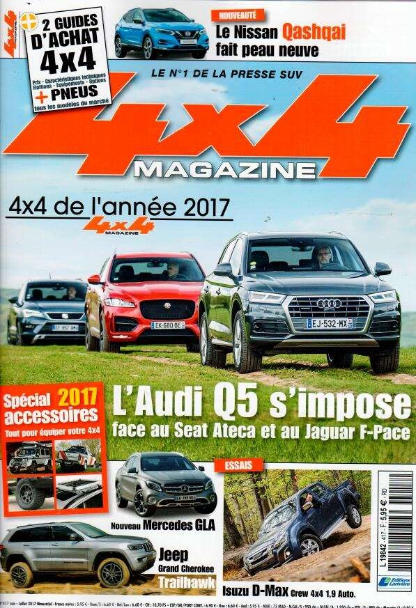 4x4 magazine N° 417 Mai 2017
