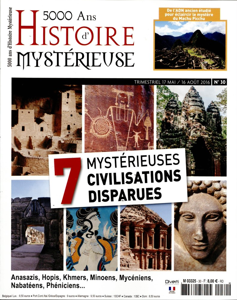 5000 ans d'Histoire mystérieuse N° 43 Août 2019