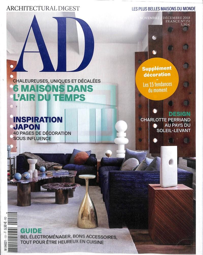 AD - Architectural digest N° 151 November 2018