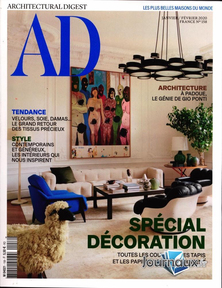 AD - Architectural digest N° 158 Janvier 2020