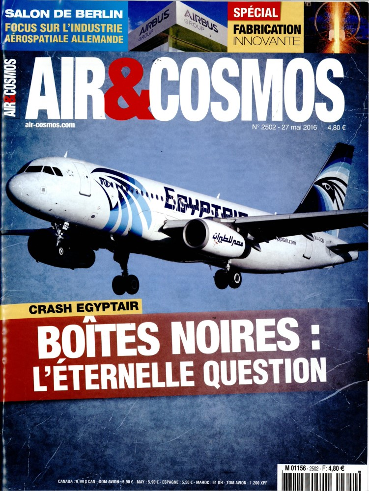 Air et Cosmos N° 2502 Mai 2016