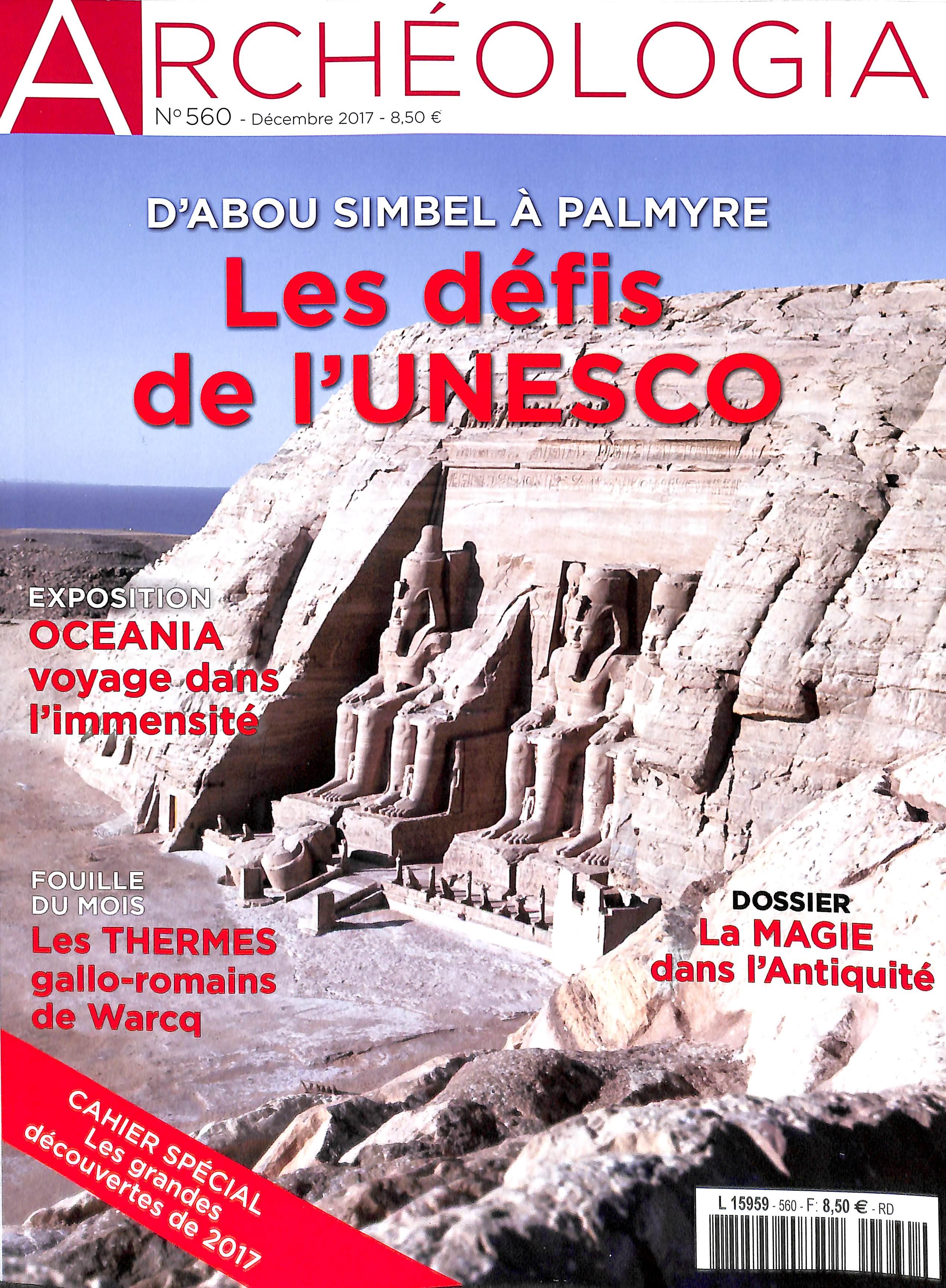 Archéologia N° 578 Juillet 2019