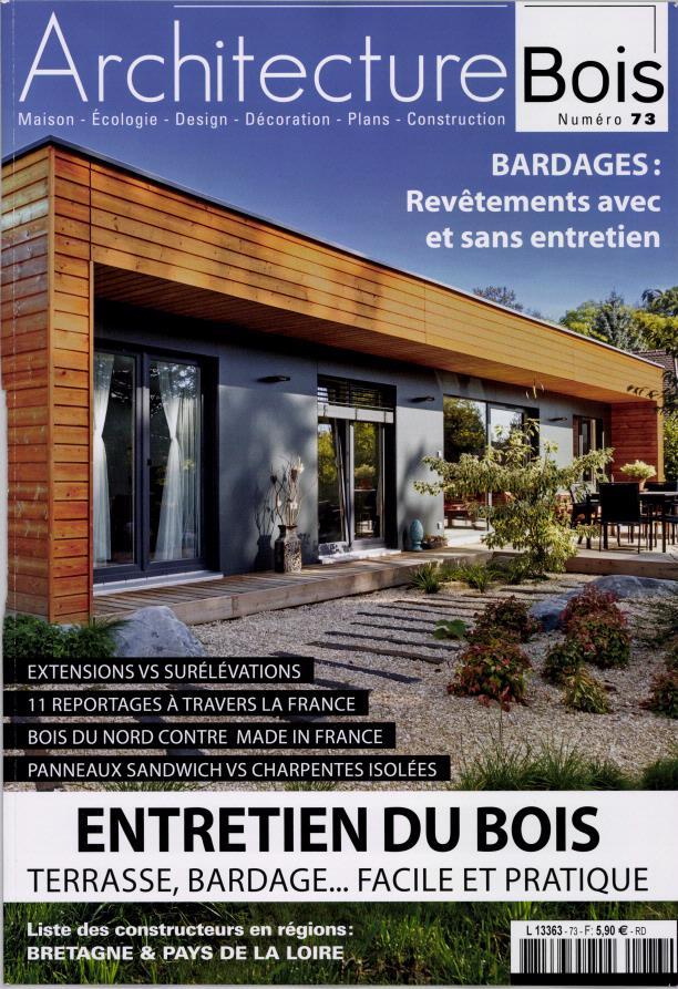 Architecture bois n 73 abonnement architecture bois for Architecture a vivre magazine
