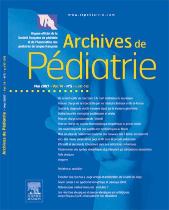 Archives de pédiatrie