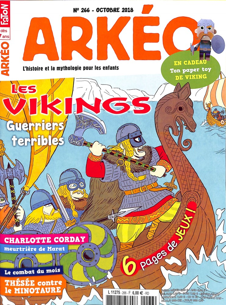Arkéo Junior N° 266 October 2018