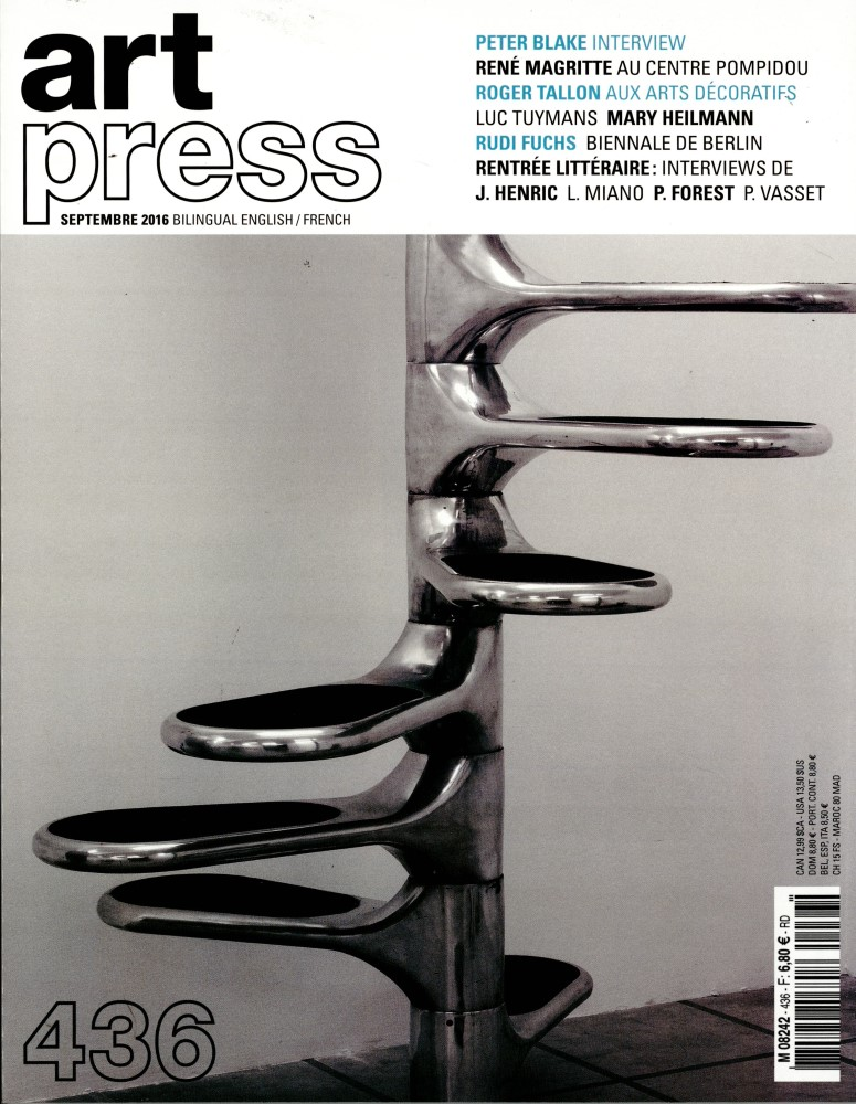 Art Press N° 436 Août 2016