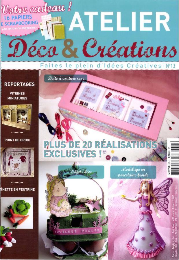 atelier d co et cr ations n 13 abonnement atelier d co et cr ations abonnement magazine par. Black Bedroom Furniture Sets. Home Design Ideas