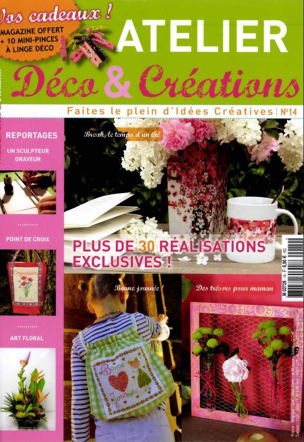 atelier d co et cr ations n 14 abonnement atelier d co et cr ations abonnement magazine par. Black Bedroom Furniture Sets. Home Design Ideas