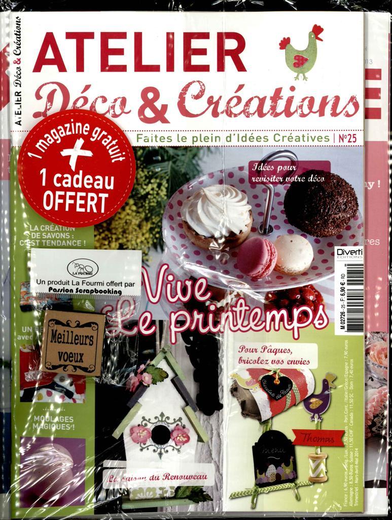 Atelier d co et cr ations n 25 abonnement atelier d co for Art et decoration fevrier 2014