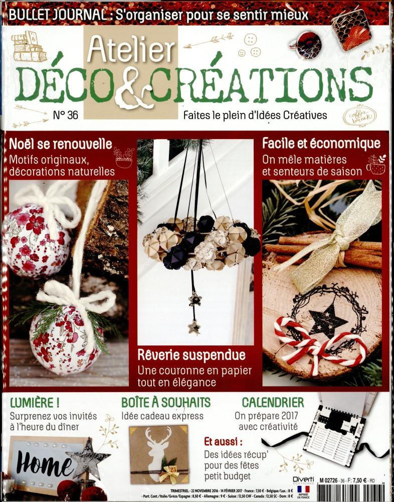 atelier d co et cr ations n 36 abonnement atelier d co et cr ations abonnement magazine par. Black Bedroom Furniture Sets. Home Design Ideas