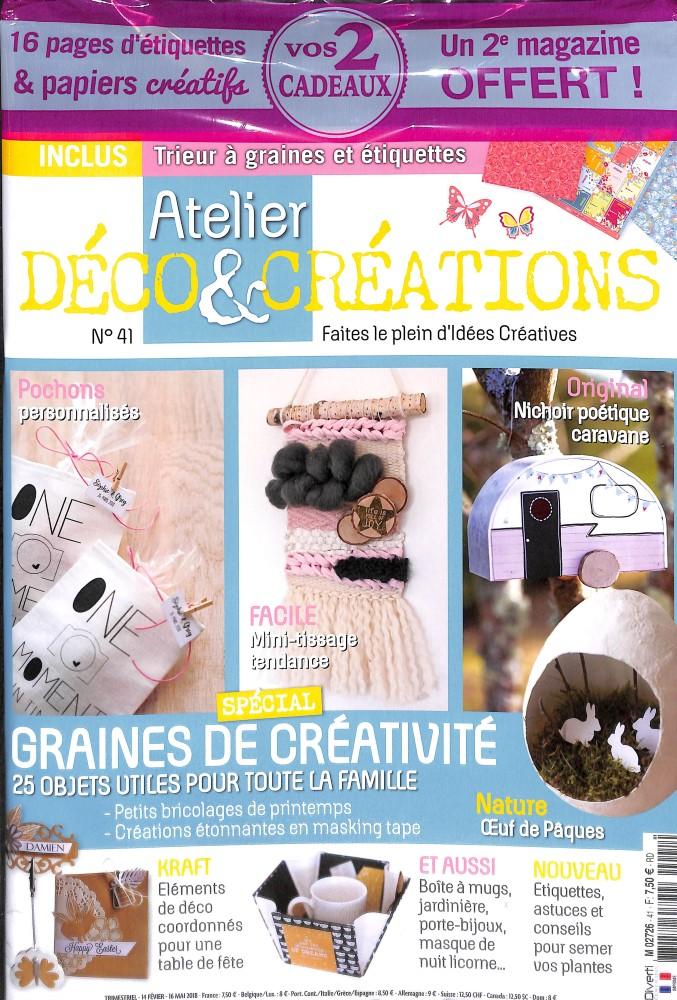 abonnement atelier d co et cr ations abonnement magazine par. Black Bedroom Furniture Sets. Home Design Ideas