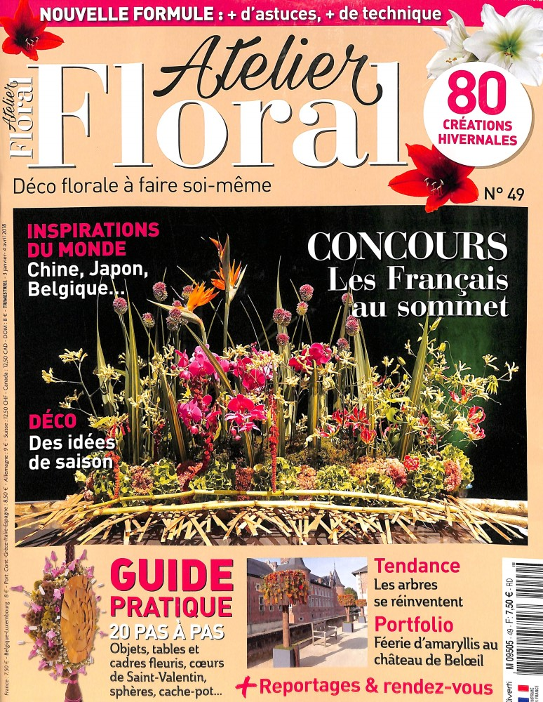 Atelier floral N° 49 January 2018