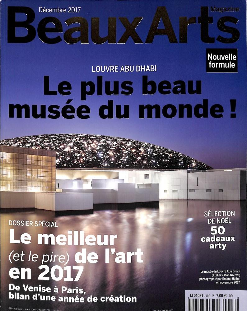 Beaux Arts Magazine N° 402 Novembre 2017
