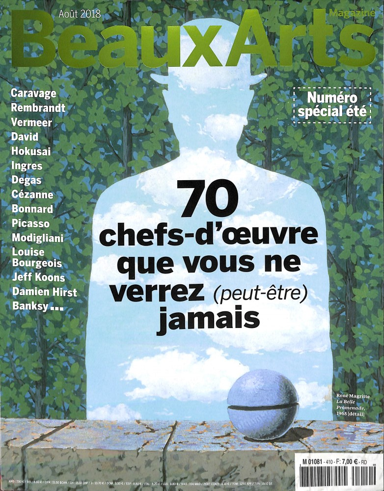 Beaux Arts Magazine N° 410 July 2018