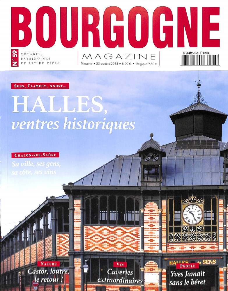Bourgogne magazine N° 593 October 2018