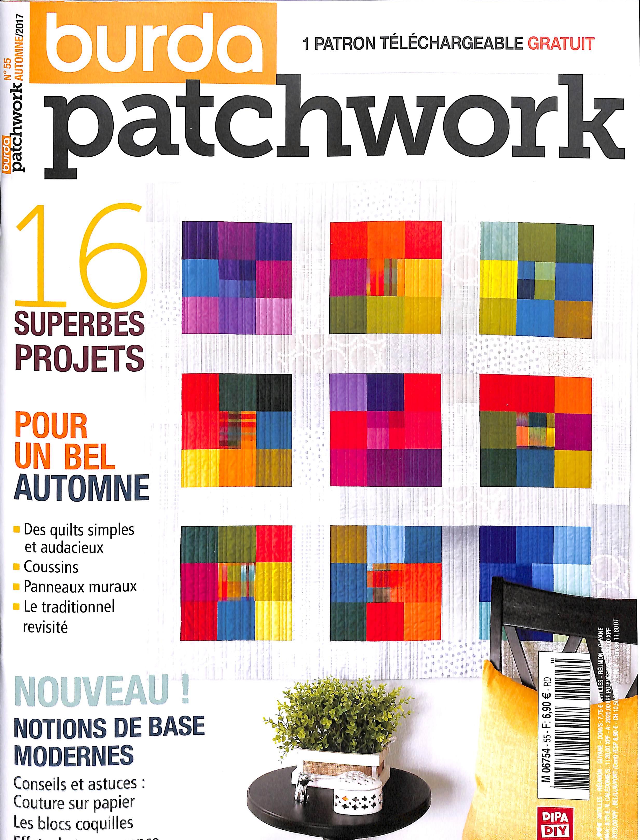 Burda Patchwork N° 55 Août 2017