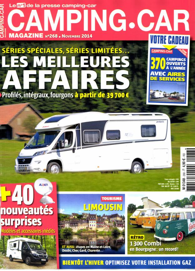 Camping-car magazine N° 322 Septembre 2019