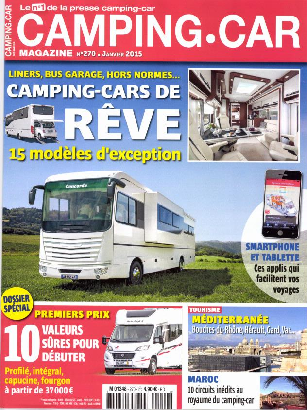 camping car magazine n 270 abonnement camping car magazine abonnement magazine par. Black Bedroom Furniture Sets. Home Design Ideas