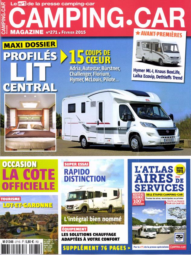 camping car magazine n 271 abonnement camping car magazine abonnement magazine par. Black Bedroom Furniture Sets. Home Design Ideas
