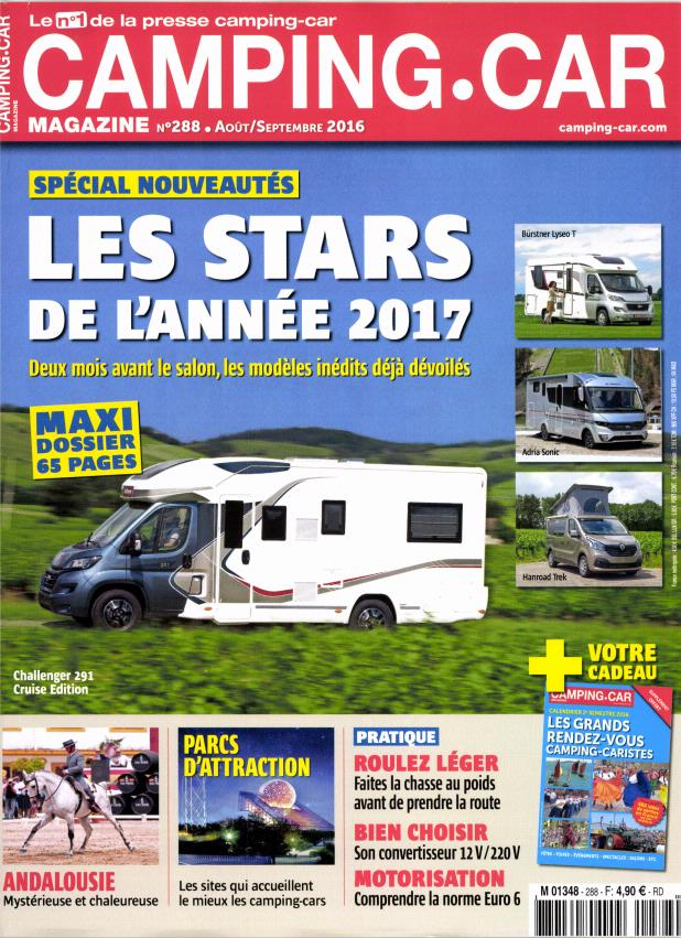 camping car magazine n 288 abonnement camping car magazine abonnement magazine par. Black Bedroom Furniture Sets. Home Design Ideas