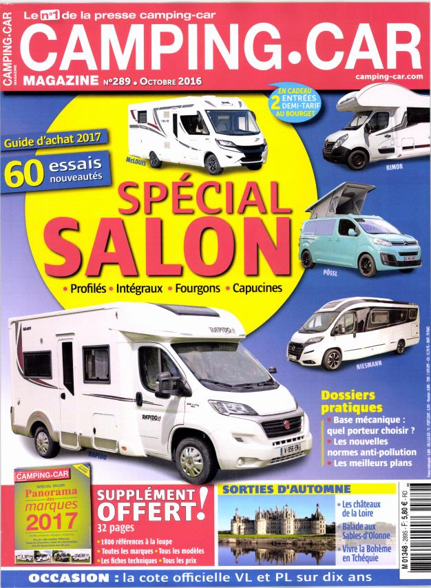 camping car magazine n 289 abonnement camping car magazine abonnement magazine par. Black Bedroom Furniture Sets. Home Design Ideas