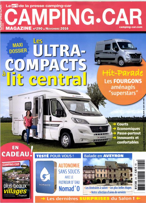 camping car magazine n 290 abonnement camping car magazine abonnement magazine par. Black Bedroom Furniture Sets. Home Design Ideas