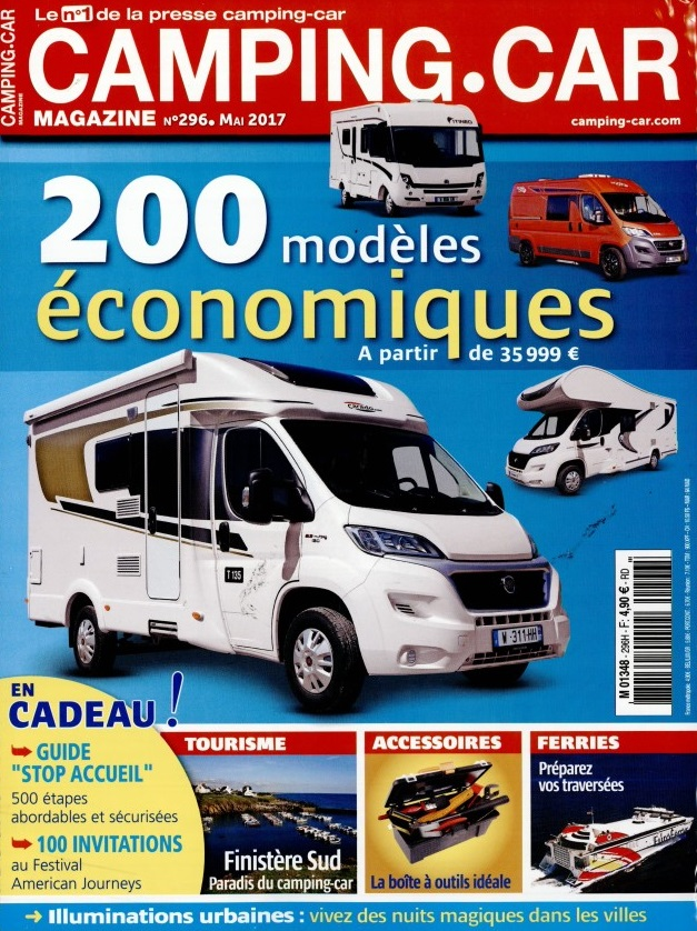 camping car magazine n 296 abonnement camping car magazine abonnement magazine par. Black Bedroom Furniture Sets. Home Design Ideas