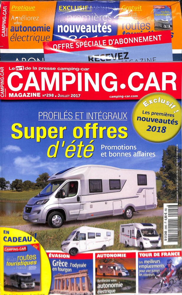 camping car magazine n 298 abonnement camping car magazine abonnement magazine par. Black Bedroom Furniture Sets. Home Design Ideas