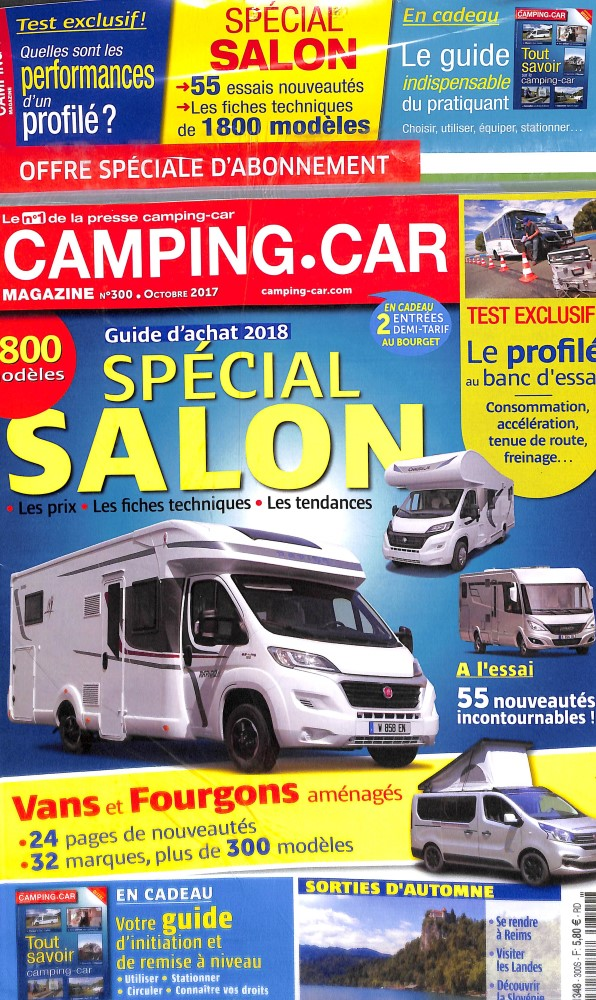 camping car magazine n 300 abonnement camping car magazine abonnement magazine par. Black Bedroom Furniture Sets. Home Design Ideas