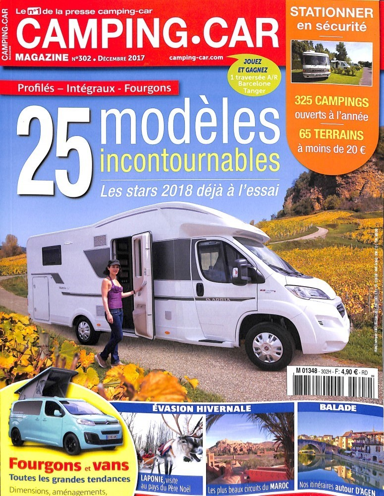 camping car magazine n 302 abonnement camping car magazine abonnement magazine par. Black Bedroom Furniture Sets. Home Design Ideas