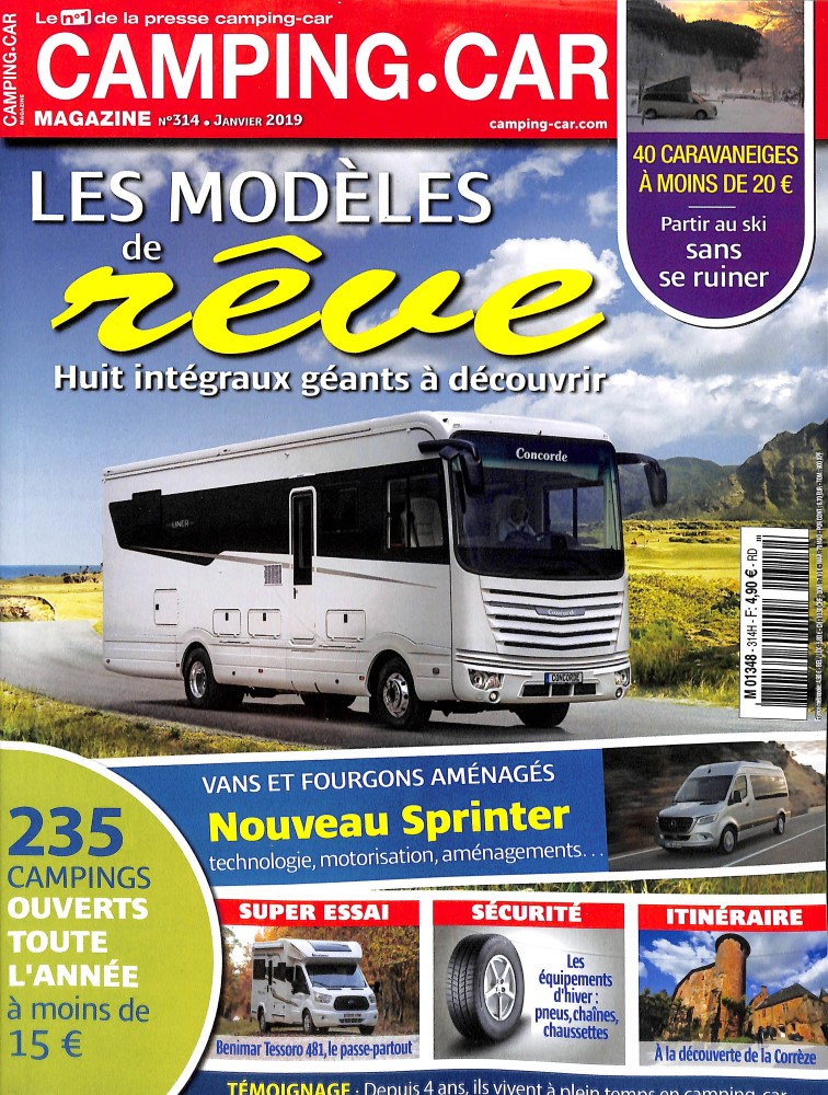 Camping-car magazine N° 318 Avril 2019