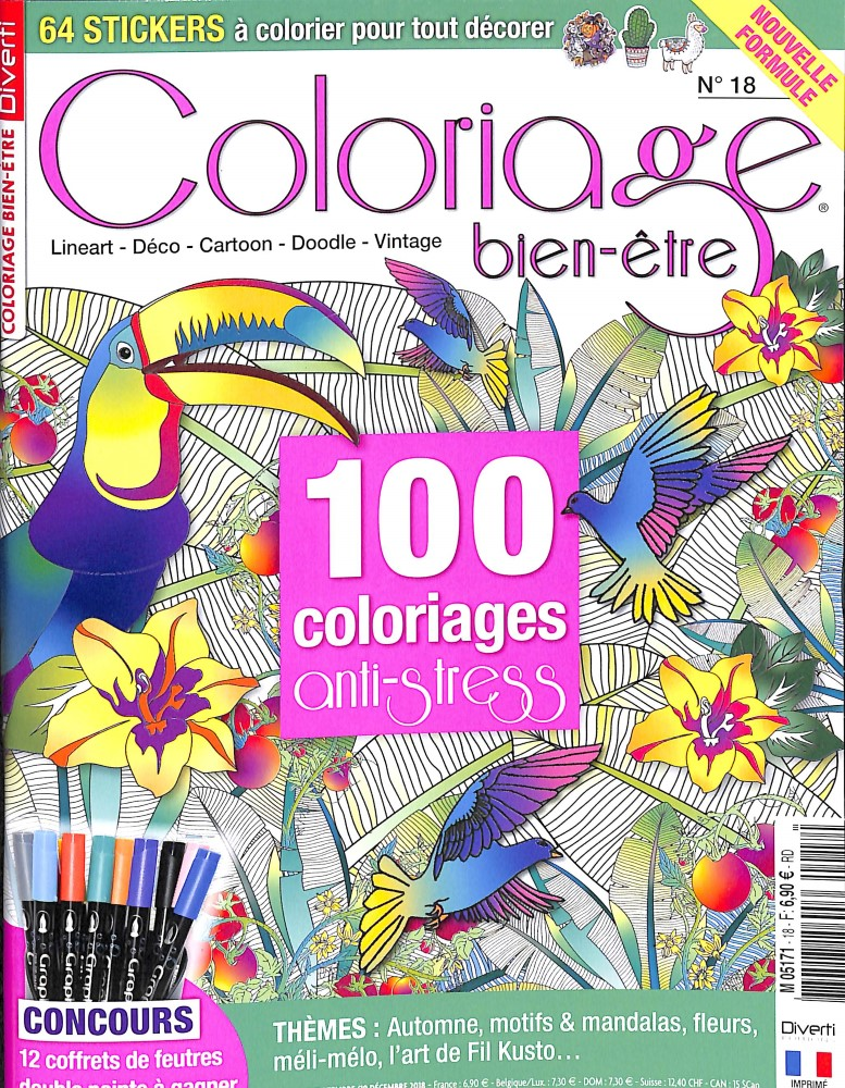 Coloriage Anti Stress Magazine.Abonnement Coloriage Serenity Abonnement Magazine Par