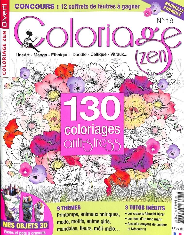 Coloriage zen N° 16 March 2018