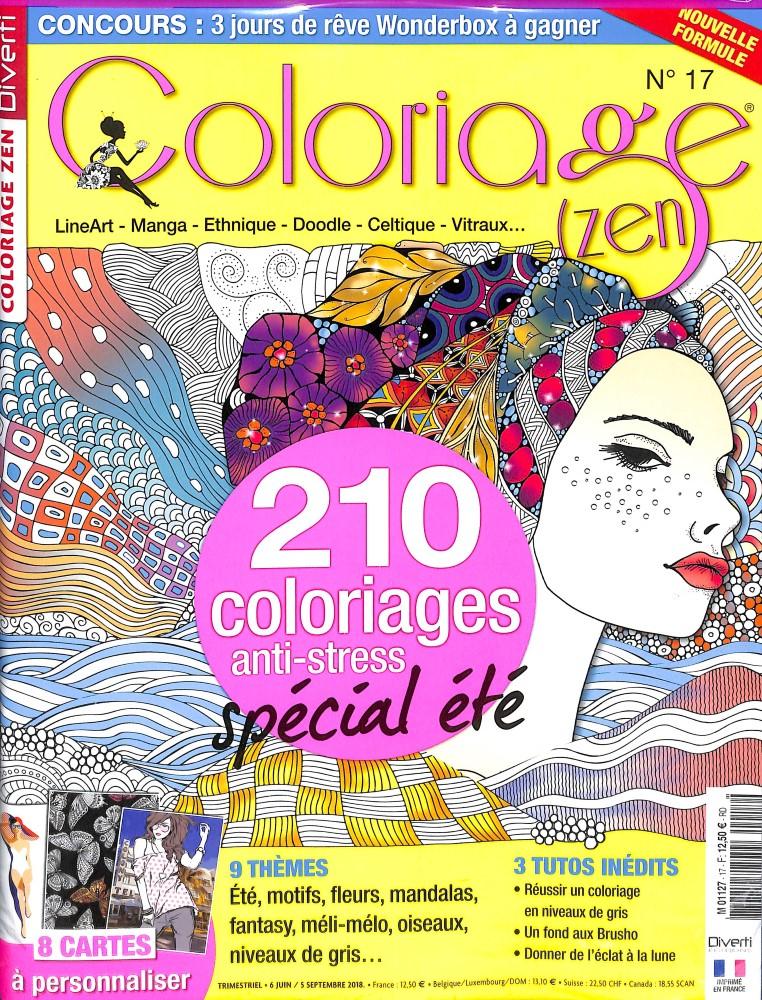 Coloriage zen N° 17 June 2018