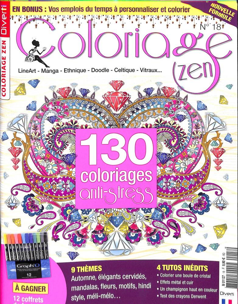 Coloriage zen N° 18 September 2018
