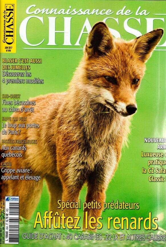 Connaissance de la chasse N° 495 Juin 2017