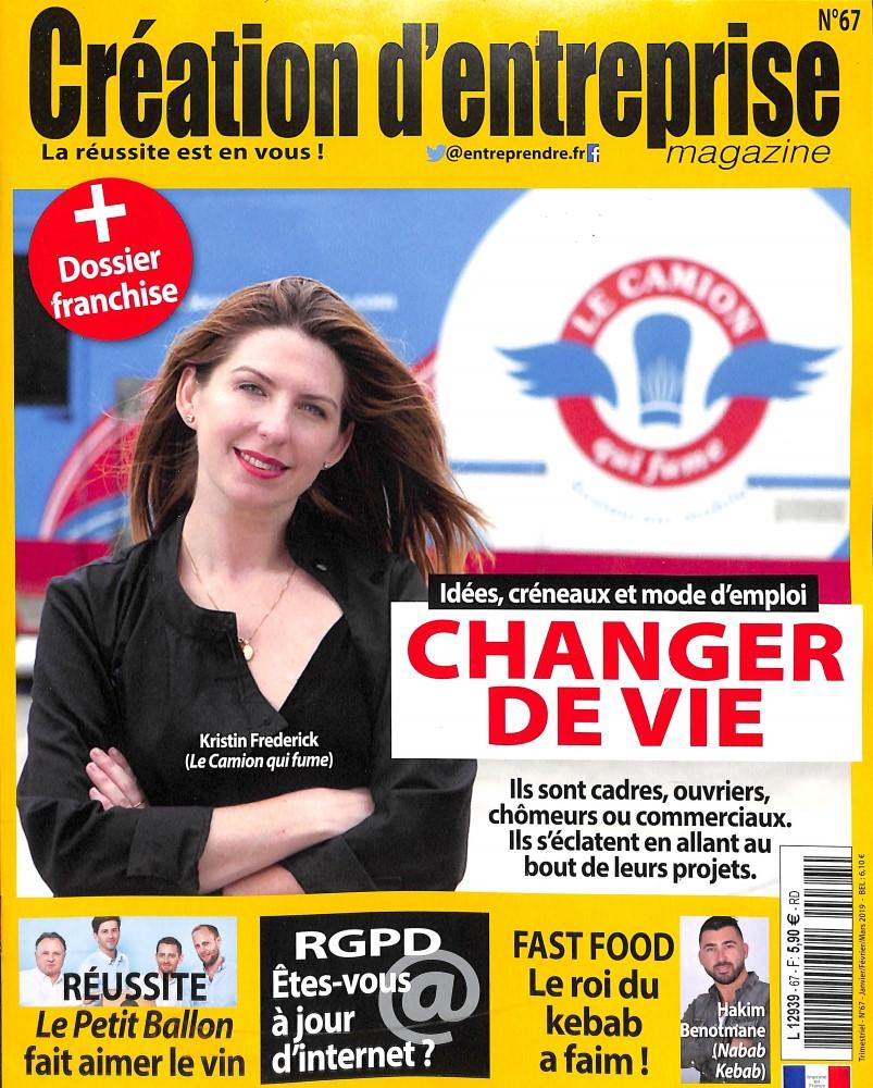 Création d'entreprise magazine N° 67 Décembre 2018
