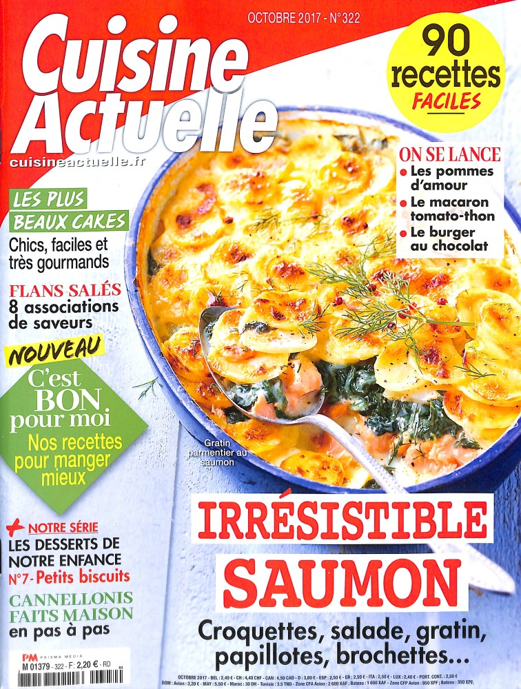cuisine actuelle n 322 abonnement cuisine actuelle abonnement magazine par. Black Bedroom Furniture Sets. Home Design Ideas