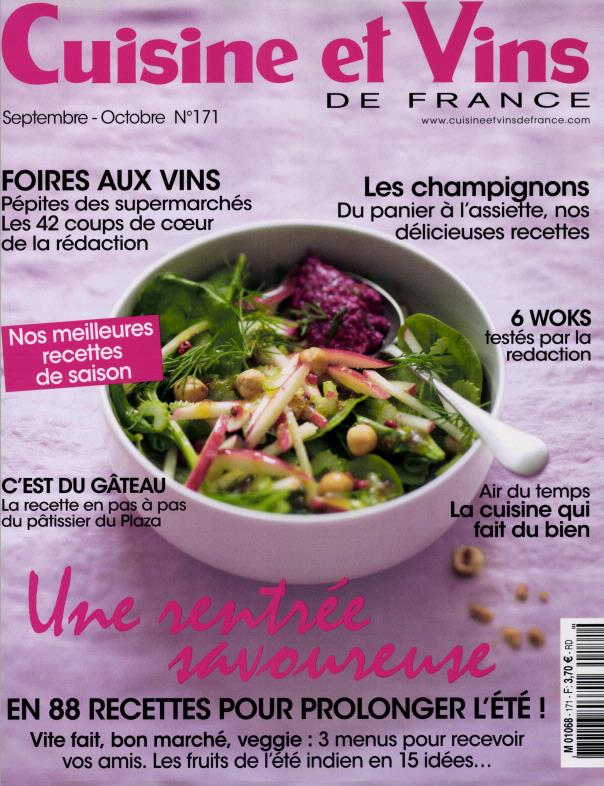 cuisine et vins de france n 171 abonnement cuisine et vins de france abonnement magazine. Black Bedroom Furniture Sets. Home Design Ideas