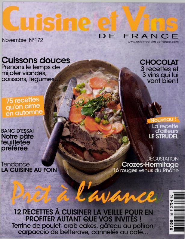 Cuisine et vins de france n 172 abonnement cuisine et for Cuisine et vins de france