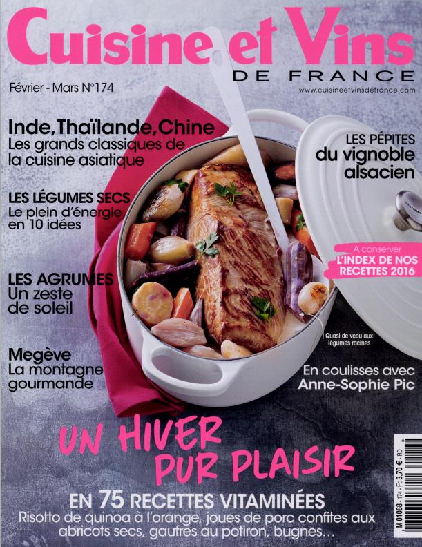 abonnement cuisine et vins de france abonnement magazine par. Black Bedroom Furniture Sets. Home Design Ideas